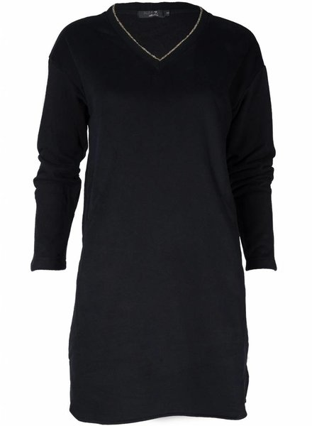 Rebelz Collection Sweater dress Pascal zwart