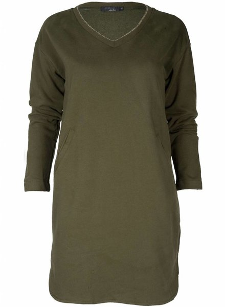 Rebelz Collection Sweater dress Pascal groen