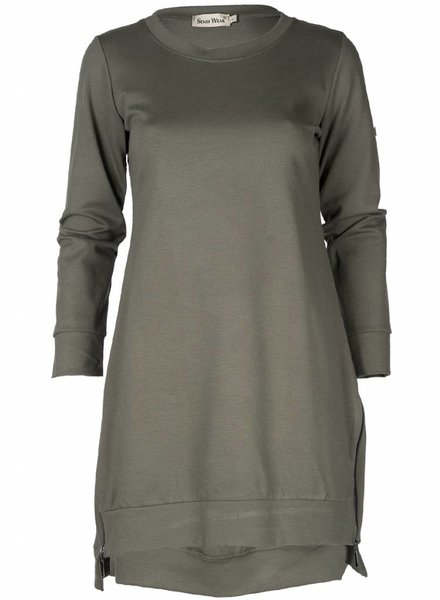 Rebelz Collection Sweater dress Noortje groen