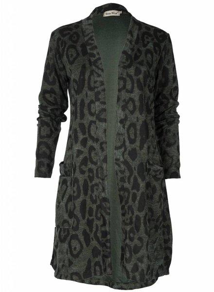 Vest Panter groen/zwart