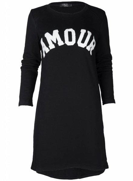 Rebelz Collection Sweater dress Amour zwart
