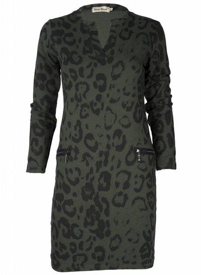 Jurk Leopard groen