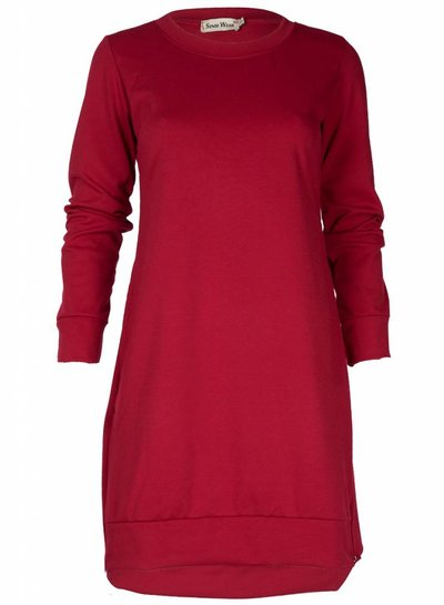 Rebelz Collection Sweater dress Noortje rood
