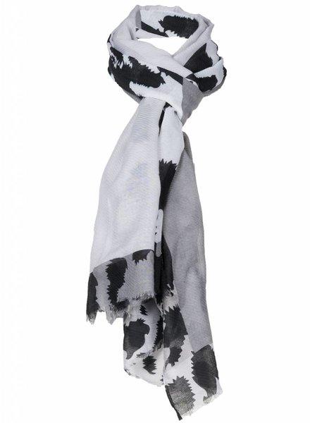 Sjaal Raafje zwart/wit