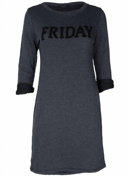 Gemma Ricceri Sweaterdress Friday grijs/zwart