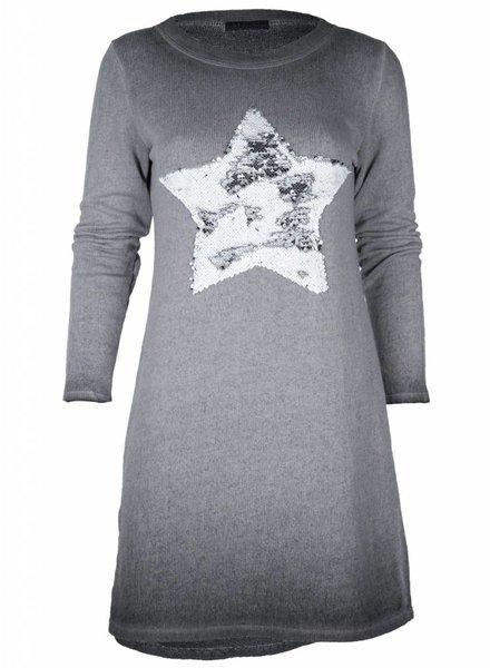 Gemma Ricceri Sweaterdress  Star grijs