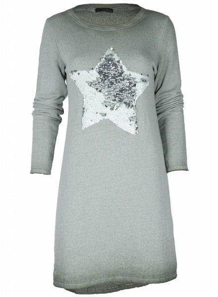 Gemma Ricceri Sweaterdress star groen