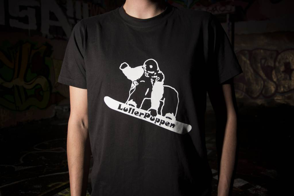 Lullerpuppen T-Shirt Snowboarder schwarz