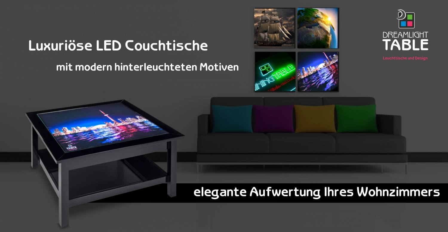 led leuchttische couchtische mit leuchtenten bildern. Black Bedroom Furniture Sets. Home Design Ideas