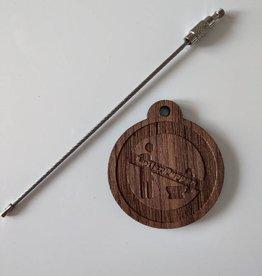 Schlüsselanhänger Nussbaumholz