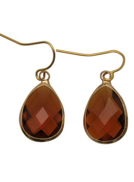 Dare to be fabulous oorbel teardrop Cognac