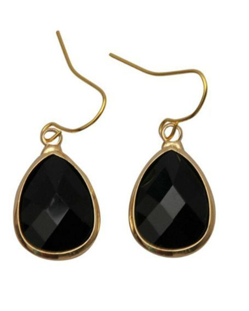 Dare to be fabulous oorbel teardrop Black