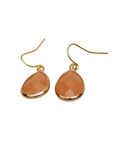 pink lyst and peach teardrop product aubrey resin jewelry david jade in earrings