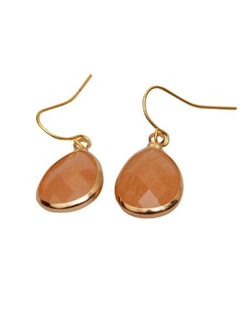 Dare to be Fabulous earring Teardrop Peach