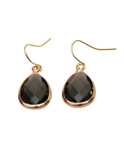 Dare to be Fabulous earring teardrop Grey