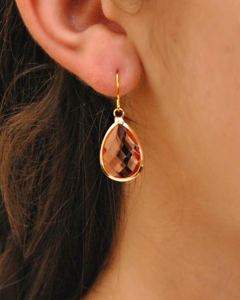 Dare to be fabulous oorbel teardrop Copper