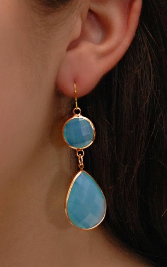 Dare to be Fabulous earring Chandelier Aqua XL