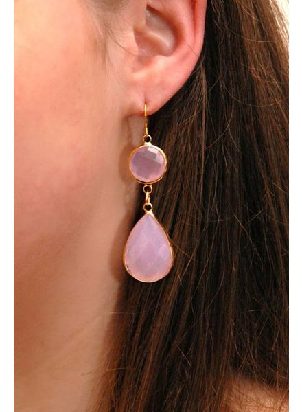 Dare to be Fabulous Teardrop Chandelier Opal Pink XL