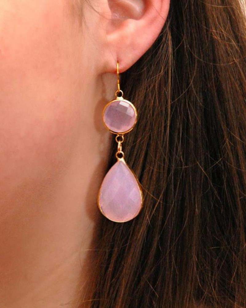 Dare to be Fabulous earring Chandelier Opal Pink XL