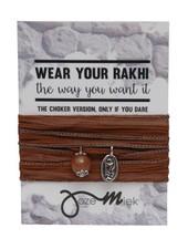 Jozemiek ® Rakhi- Choker -Wikkelarmband Sepia