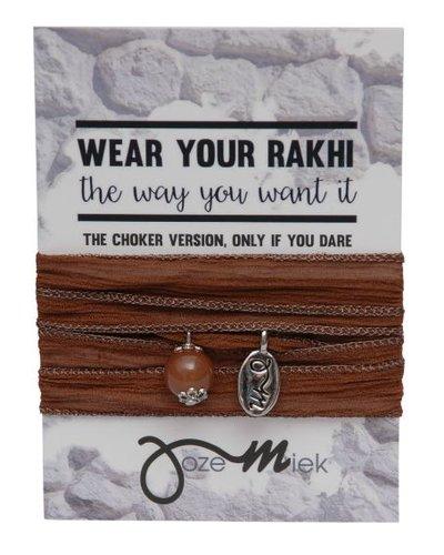 Jozemiek ® Rakhi- Choker -Wrapbracelet Sepia