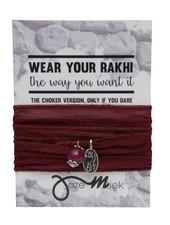 Jozemiek ® Rakhi- Choker -Wikkelarmband Bordeaux
