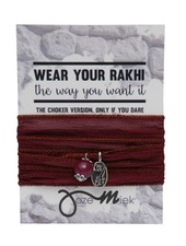 Jozemiek ® Rakhi- Choker -Wrapbracelet Bordeaux