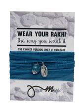 Jozemiek ® Rakhi- Choker -Wikkelarmband Yale Blue