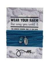 Jozemiek ® Rakhi- Choker -Wrapbracelet Yale Blue