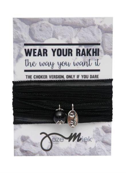 Jozemiek ® Rakhi- Choker -Wikkelarmband Black