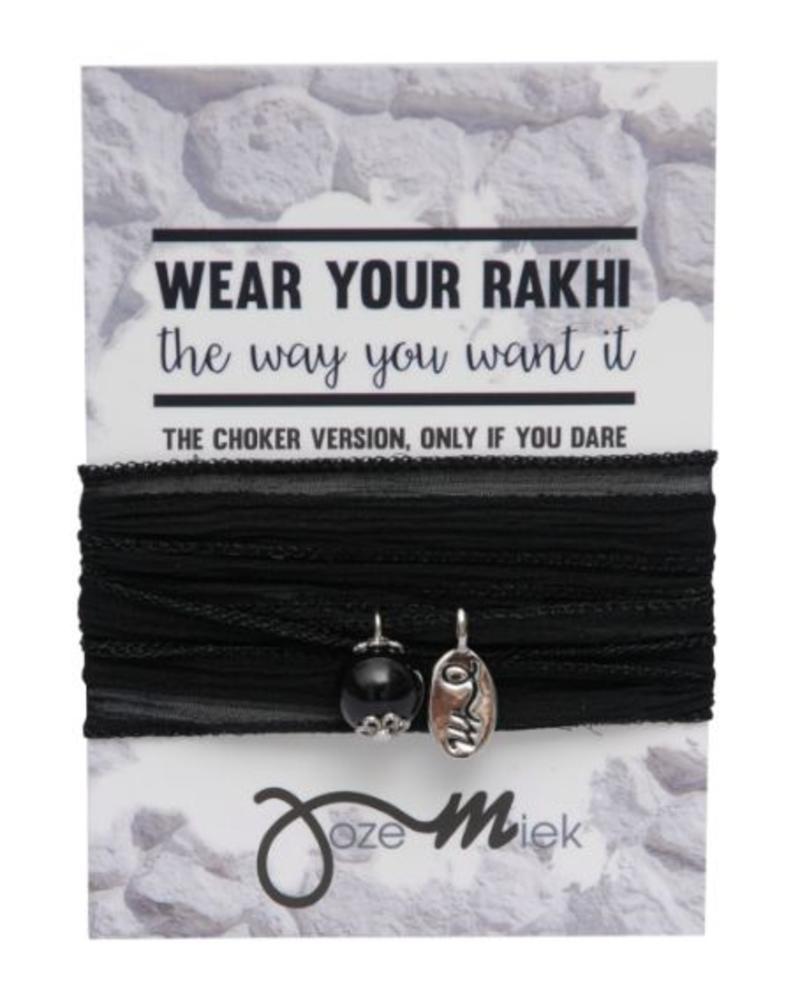 Jozemiek ® Rakhi- Choker -Wrapbracelet Black
