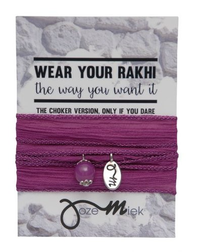 Jozemiek ® Rakhi- Choker -Wrapbracelet Raspberry