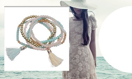 Embrace glassbeads bracelets by Jozemiek