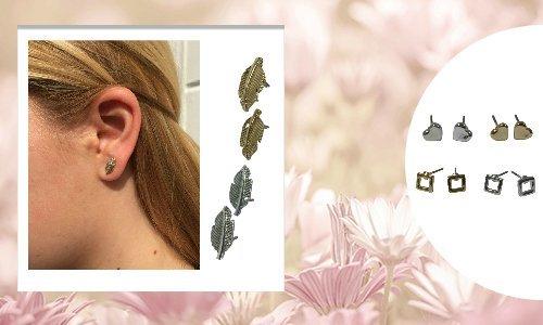 minimalistic stud earring