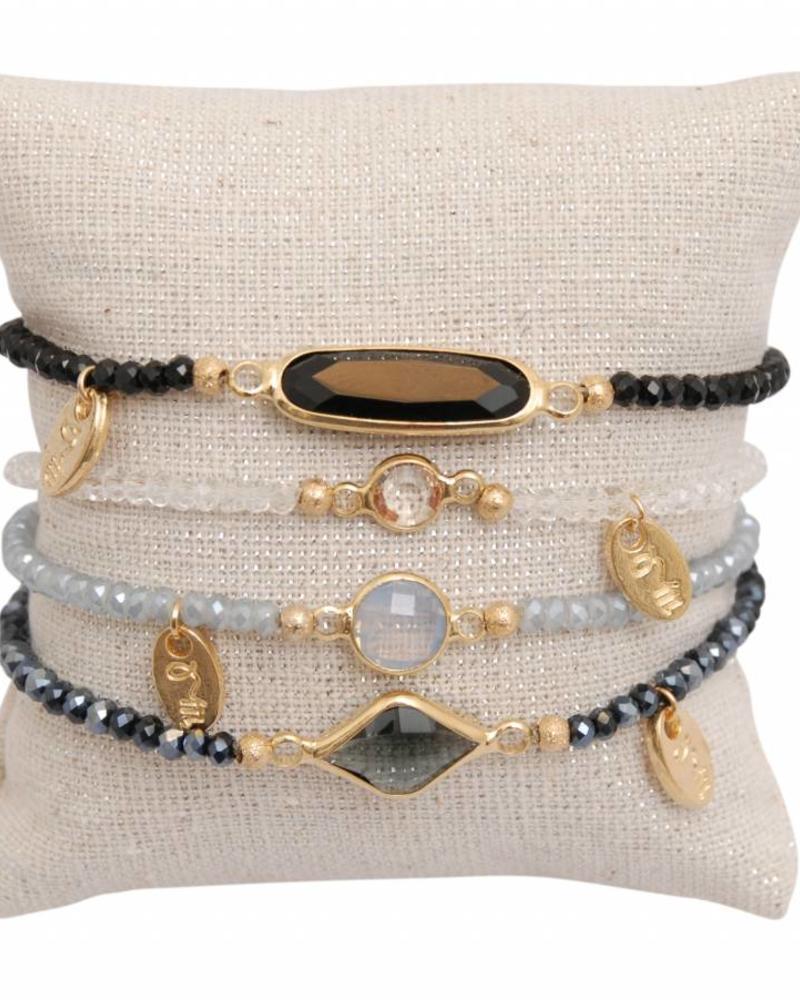 Jozemiek ® Jozemiek Minimalistic Embrace Cristal Stone 4pcs set1