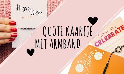 Quote kaarten met armband