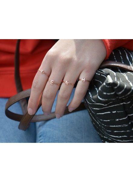 Jozemiek ® Initial Ring rosé by Jozemiek