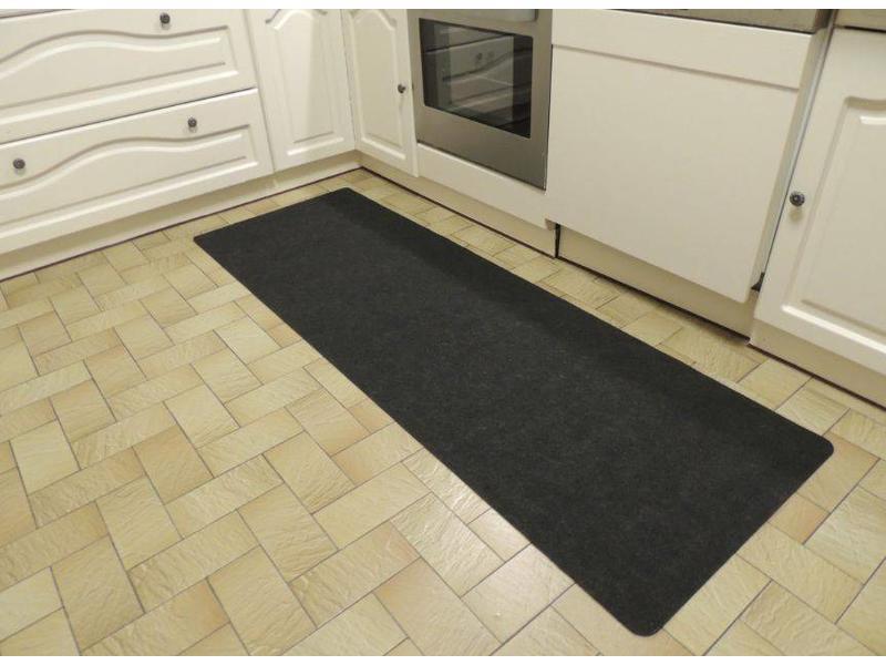 Mat voor keuken in antracietkleur