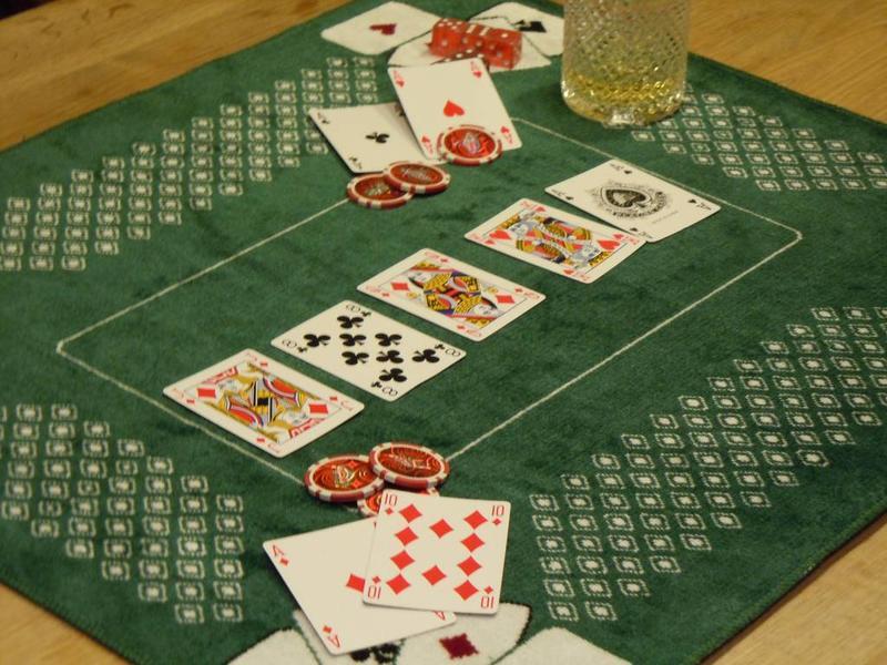 Tapis de cartes vert 58x70