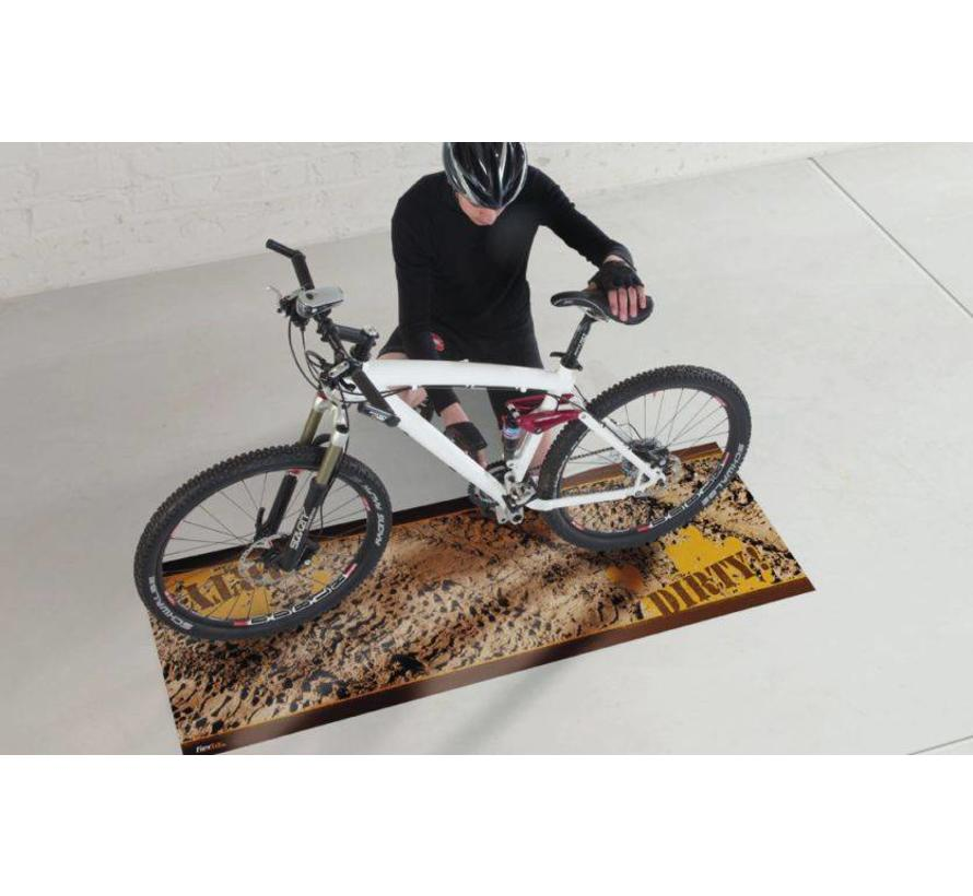 Tapis protection sol pour bicyclette Dirty