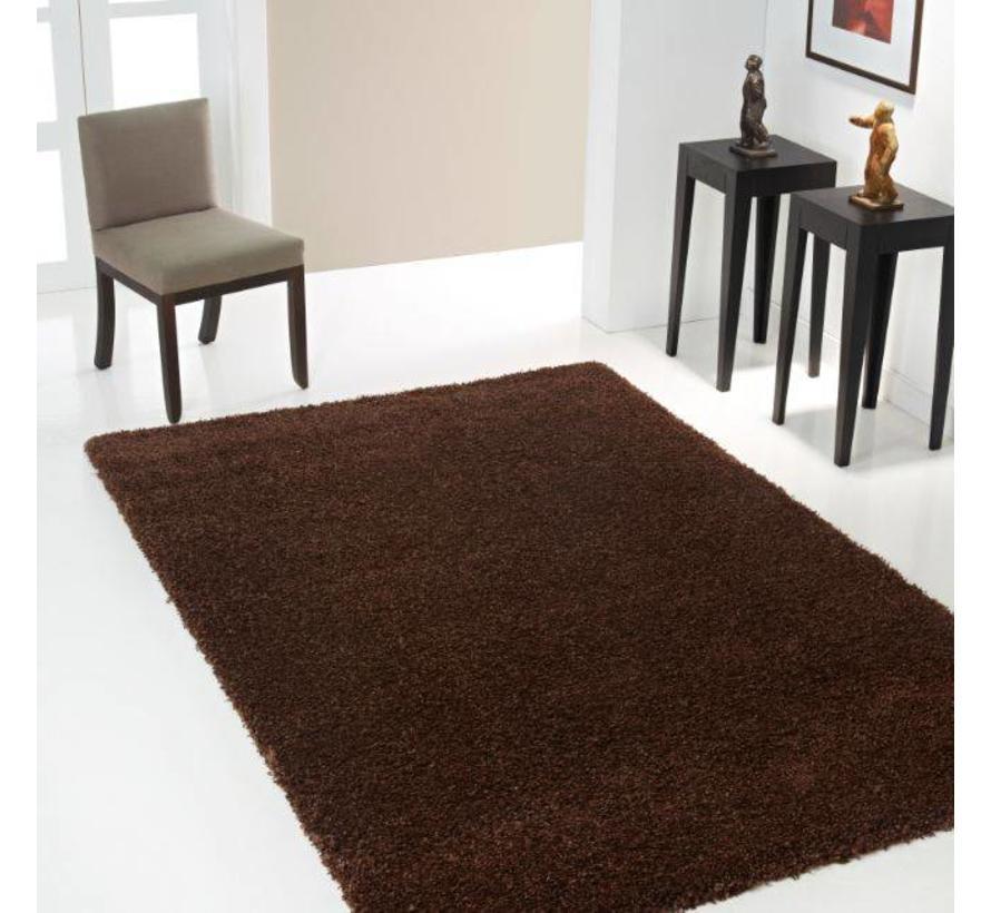 Hoogpolig tapijt bruin 30 mm