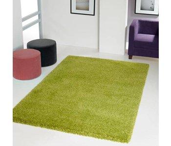 Groen tapijt hoogpolig