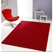 Hoogpolig tapijt rood
