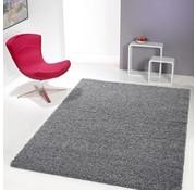 Hoogpolig tapijt grijs