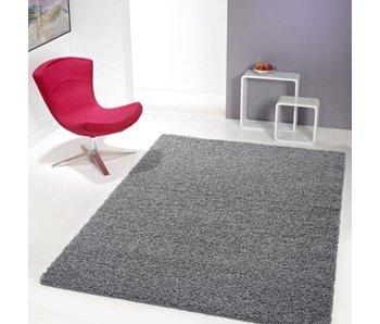Grijs tapijt hoogpolig