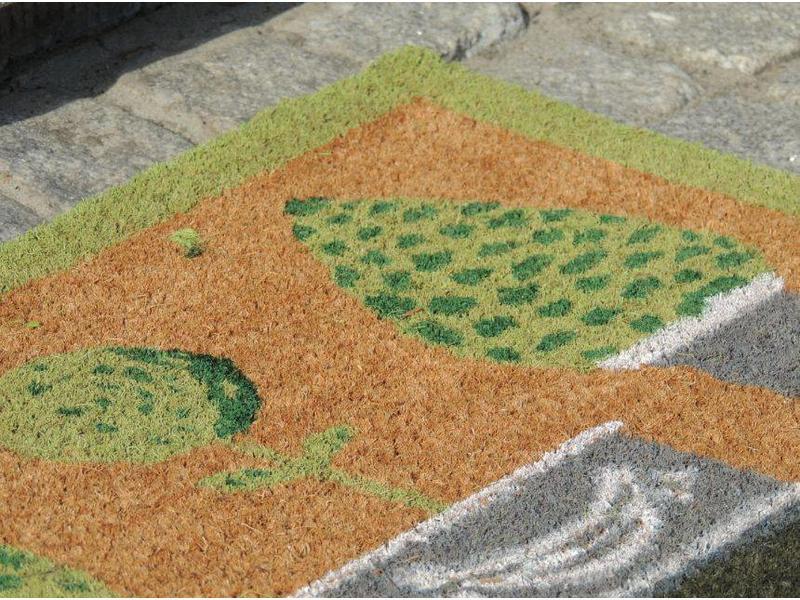 tapis coco imprimé à la main, 40x60cm