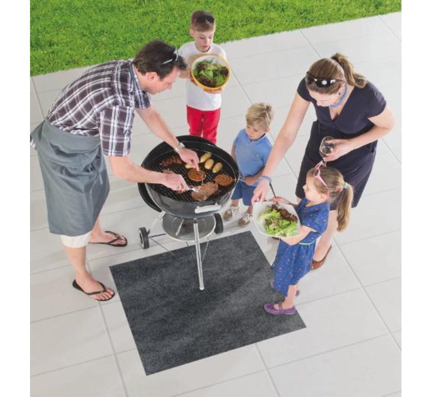 Tapis de protection de sol pour BBQ, anthra