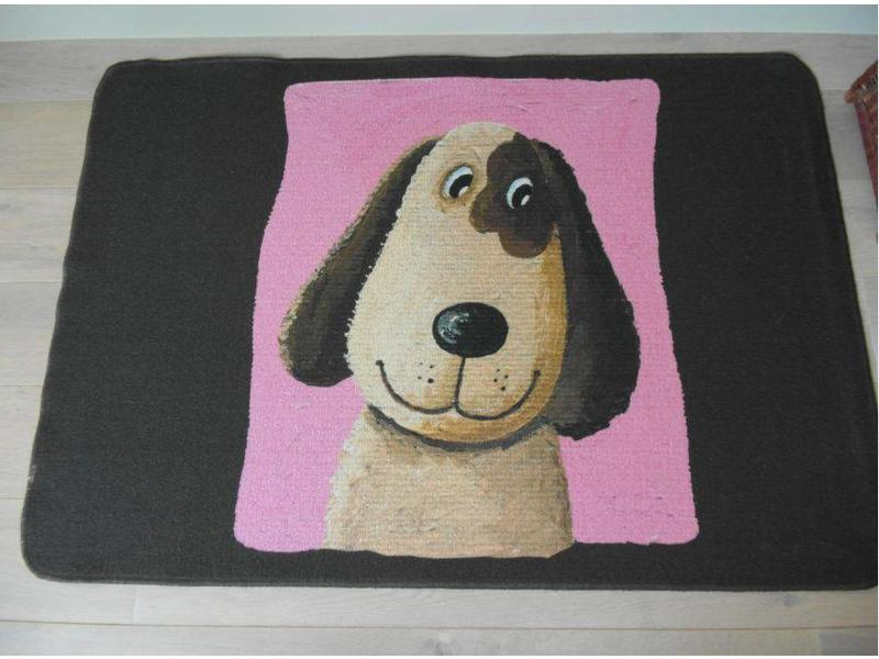 tapis avec chien pour chambre enfant. Black Bedroom Furniture Sets. Home Design Ideas