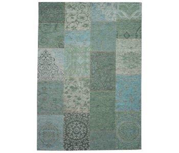 Vlak vintage tapijt blauw