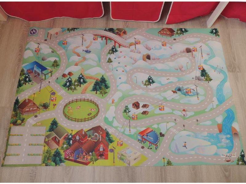 Tapis de jeu enfant montagne 100x150cm